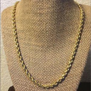 Jewelry - 14kt YG Diamond Cut Rope Necklace